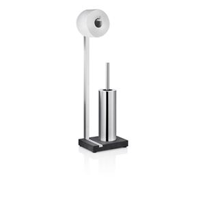Menoto Matte Stainless Steel Toilet paper Holder and Brush