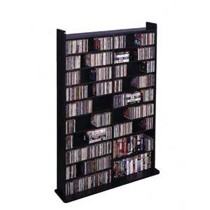 High Capacity Medium Black Multimedia Wall Rack