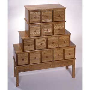 Apothecary Large Oak Multimedia Cabinet