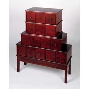 Apothecary Large Cherry Multimedia Cabinet
