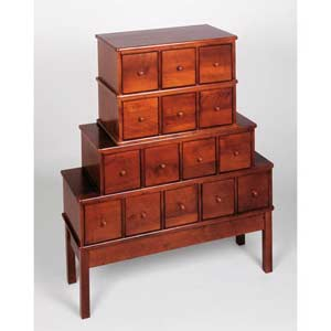 Apothecary Large Walnut Multimedia Cabinet