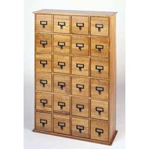 Library File Large Oak Multimedia Cabinet
