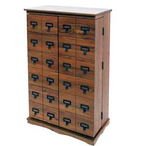 Librarian's Dark Oak Multimedia Cabinet