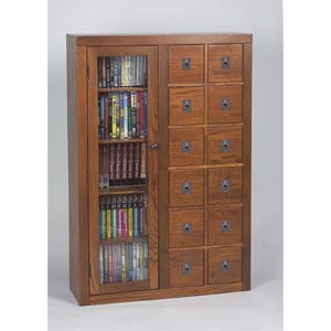 Dark Oak Media Storage Cabinet