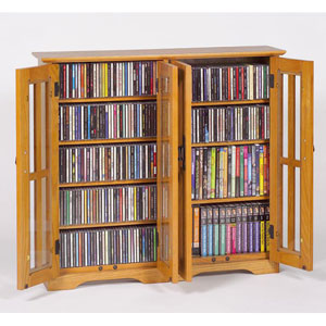 Wall Hanging Mission Glass Mission Multimedia Oak Cabinet