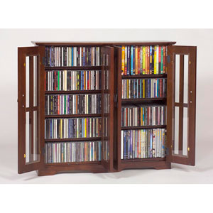 Wall Hanging Mission Glass Mission Multimedia Walnut Cabinet