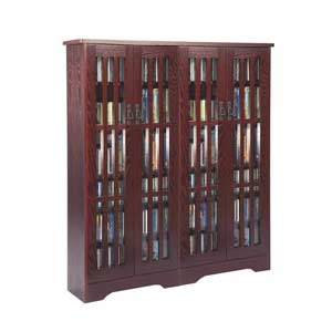 Mission High Capacity Large Dark Cherry Multimedia Cabinet