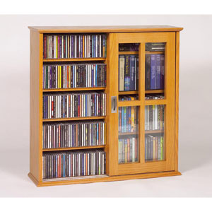 Wall Hanging Sliding Door Mission Multimedia Oak Cabinet