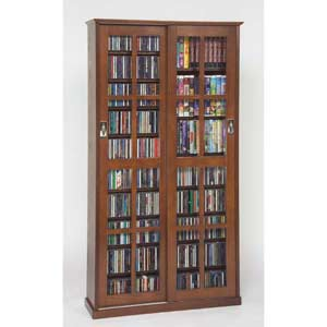 Mission Walnut Multimedia Cabinet