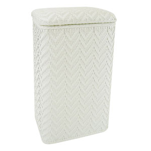 Elegante White Apartment Hamper