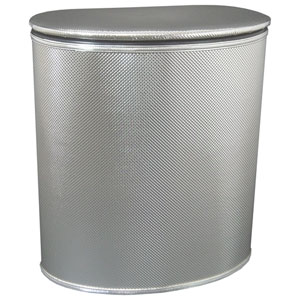 Silver European Edition Vinyl Oval Hamper