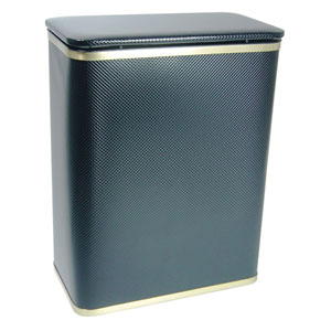 Black and Gold Bath Jewelry Diamond Pattern Vinyl Hamper