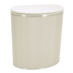 Capri Classic Reflections Pearl White Bowed Front Hamper
