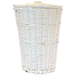 Willow Round White Hamper