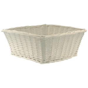 Willow Large White Basket
