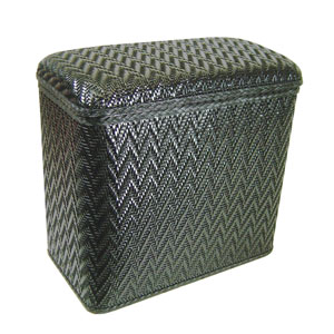 Elegante Black Wicker Vanity Hamper