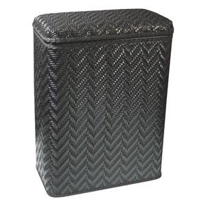 Elegante Black Decorator Color Wicker Hamper
