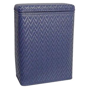 Elegante Coastal Blue Decorator Color Wicker Hamper