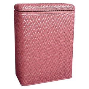 Elegante Raspberry Decorator Color Wicker Hamper