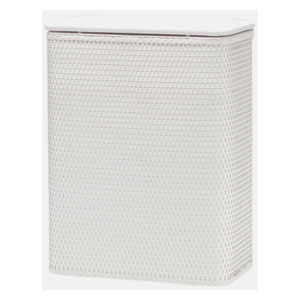 Chelsea White Hamper with Vinyl Lid