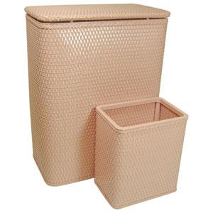 Chelsea Tea Rose Hamper and Matching Wastebasket Set
