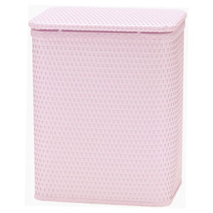 Chelsea Crystal Pink Decorator Color Wicker Hamper