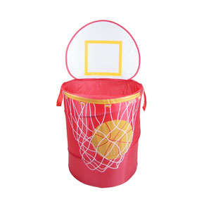 Original Bongo Bag Bongo Buddy Red Basketball Pop Up Hamper