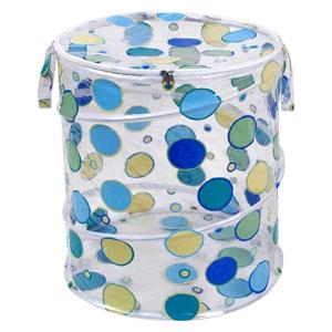 Original Bongo Bag Blue and Green Dots Pop Up Hamper