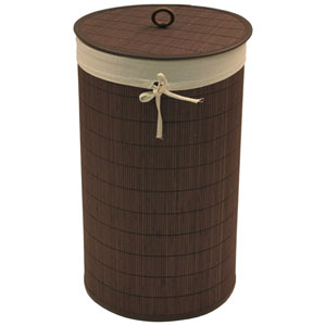 Baby Things Espresso Bamboo Hamper with Ecru Liner