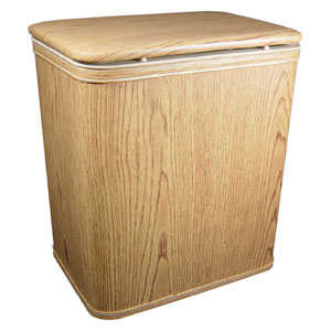Oak Woodgrain Vinyl Nursery Hamper