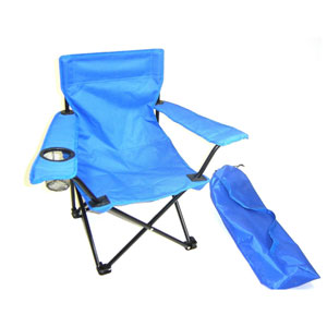 Kids Chairs Blue Folding Camp Chair with Matching Tote Bag