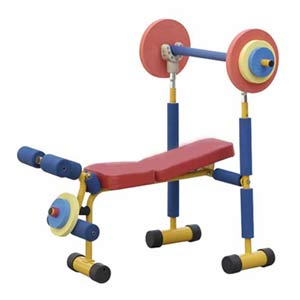 Fun and Fitness Health Systems Exercise Equipment-Weight Bench Set