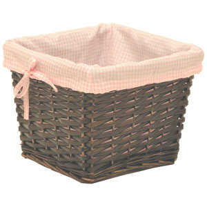 Willow Small Espresso Basket with Pink Liner