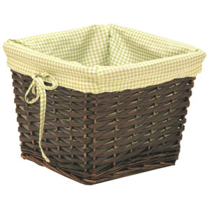 Willow Small Espresso Basket with Sage Liner
