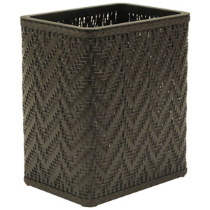 Elegante Espresso Decorator Color Wicker Wastebasket