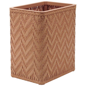 Elegante Tea Rose Decorator Color Wicker Wastebasket