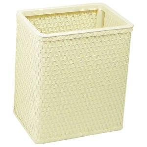 Chelsea Cream Decorator Color Square Wicker Wastebasket