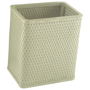 Chelsea Sage Green Decorator Color Square Wicker Wastebasket