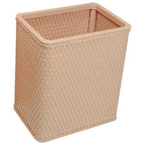 Chelsea Tea Rose Decorator Color Square Wicker Wastebasket
