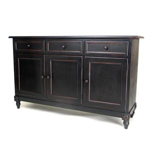 Antique Black Brookfield Console