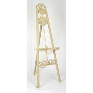 Antique White Wood Easel