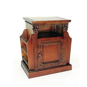 Honey Brown Trison Magazine Cabinet