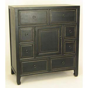 Black Wood Apothecary Cabinet