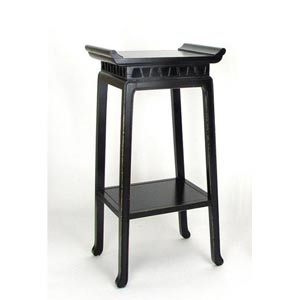 Antique Black Chow Pedestal