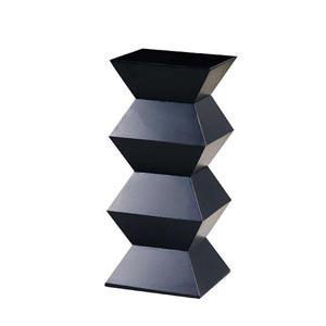 Antique Black Obit Pedestal