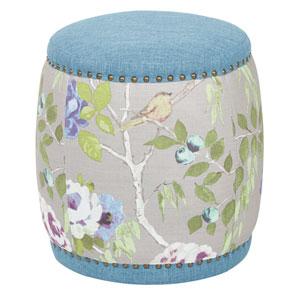 Briana Barrel in Sky Blue Fabric