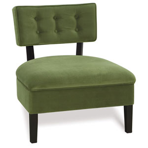 Curves Spring Green Button Chair