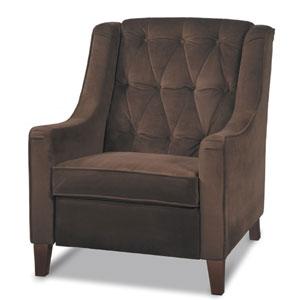 Curves Chocolate Velvet Tufted Chair