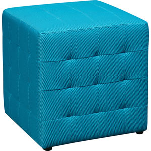 Detour 15-Inch Fabric Cube Ottoman