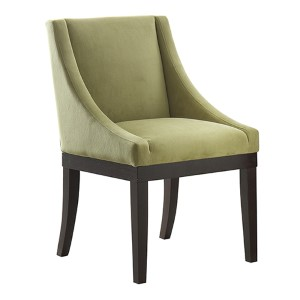 Monarch Basil Velvet Fabric Wingback Accent Chair with Solid Wood Legs